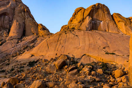 Colorful rocky landscape in Spitzkoppe Namibia Stock Photo