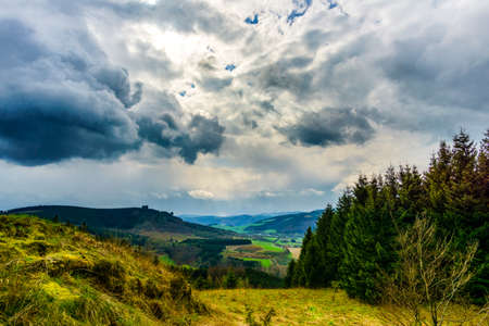 After the rain sauerland germany during hiking Stock Photo