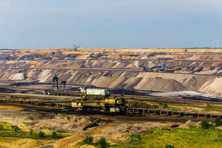 GARZWEILER, GERMANY - 28 May 2017: Garzweiler Germany M nchengladbach coal brown ernergy changing