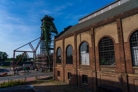 entire coal mine tower fürst leopold in ruhr area, dorsten, germany