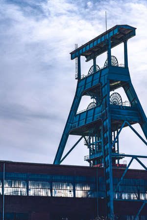 View of the disused coal mine Ewald in the Ruhr area in Germany Standard-Bild