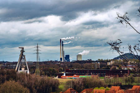 Energy from coal, colliery tower, coal exit in Germany