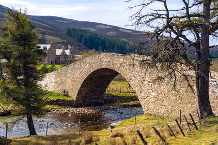 Bridge over stream in Blackwaterfoot Isle of Arran Scotland.
