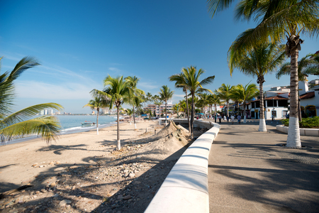jalisco: This image shows the malecon in Puerto Vallarta, Jalisco, Mexico