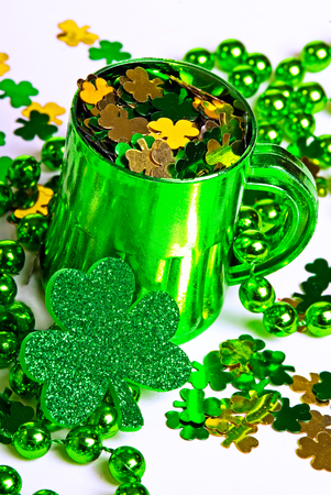 saint pattys: This image shows some St Paddys Day Party Gear Stock Photo