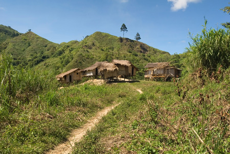 hilltop: This image shows a Hilltop Village, Mindanao, Philippines