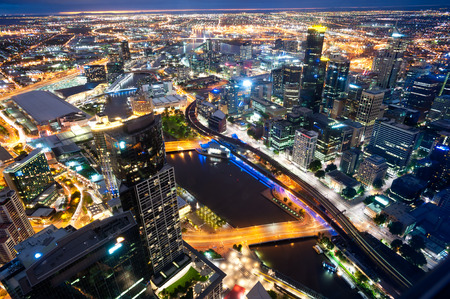 melbourne: This image shows Melbourne, Australia Stock Photo