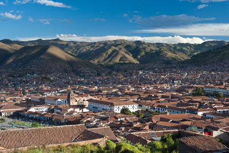 inca architecture: This image shows the city of Cusco, Peru