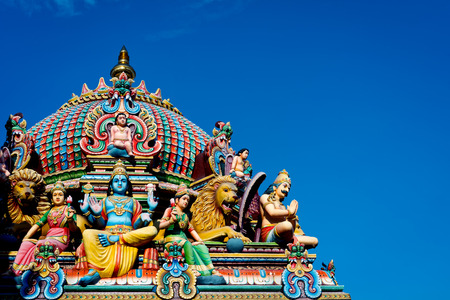mariamman: This image shows the detail of the Sri Mariamman temple in Singapore