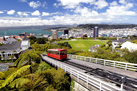 cable car: This image shows a Wellington Cable Car, New Zealand Editorial