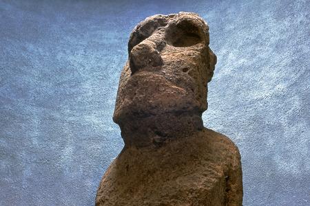 moai: Esta imagen muestra un Jefe Moai Foto de archivo