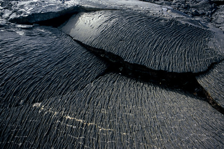 vulcanology: This image shows Lava Plates in the Galapagos Islands