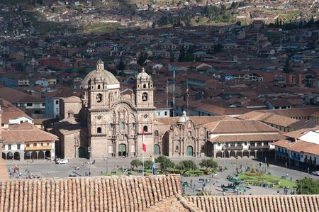 cusco: This image shows the central square in Cusco, Peru Stock Photo