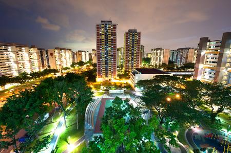 viviendas: Esta imagen muestra un complejo de viviendas HDB en Singapur