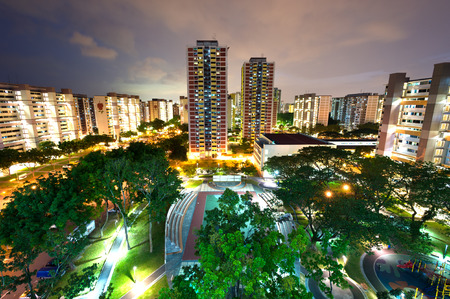 singapore city: This image shows a HDB housing complex in Singapore