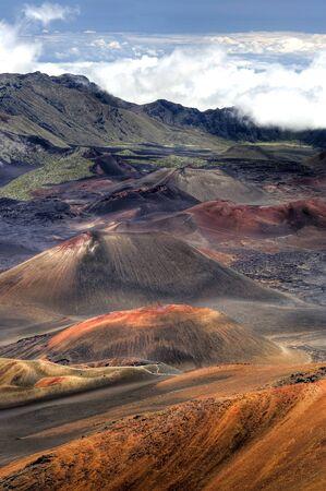 This image shows the Lunar landscape of Haleakala Crater - Maui, Hawaii