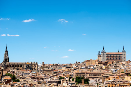 toledo: This image shows the medieval town of Toledo, Spain. Stock Photo