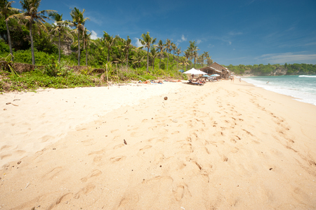bukit: Balangan Beach is one of the surfing beaches on the western side of the Bukit peninsula located just north of Dreamland in Bali, Indonesia