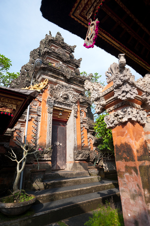 saraswati: This image shows the Pura Saraswati temple in Ubud. Bali, Indonesia