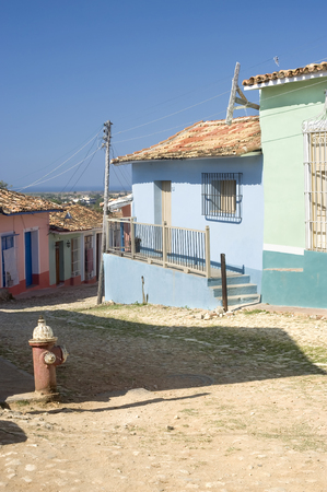 This image shows the colorful streets of trinidad, Cuba photo