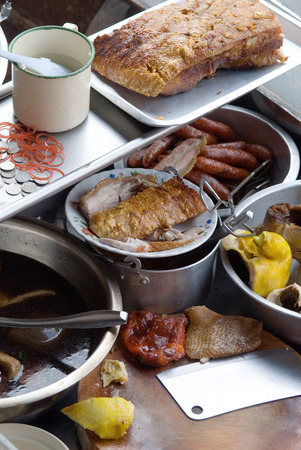 damnoen saduak: This image shows Damnoen Saduak Floating Market Food, Thailand Stock Photo