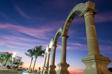 This image shows the Los Arcos in Puerto Vallarta, Mexico Zdjęcie Seryjne