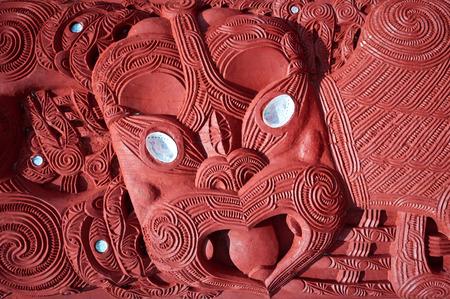 maories: Esta imagen muestra una talla maor� - Rotorua, Nueva Zelanda