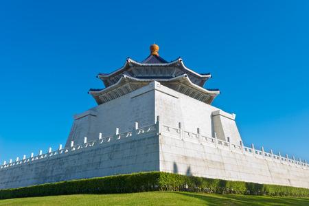 chiang kai shek memorial hall: This image shows Chiang Kai Shek Memorial Hall, in Taipei, Taiwan
