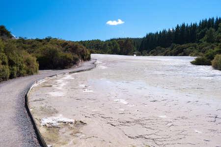 geothermal: Geothermal Landscape - Rotorua, New Zealand Stock Photo