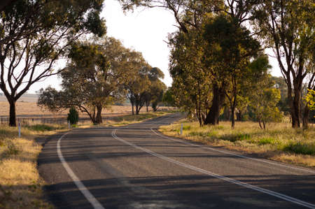 Canberra: This image shows a Winding Road north of Canberra, Australia