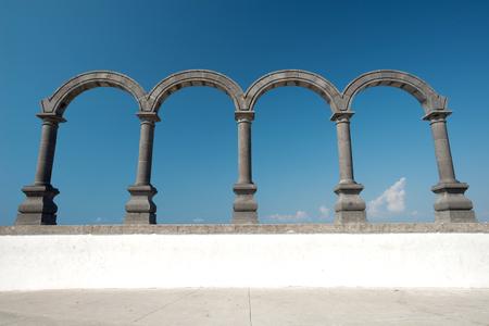 jalisco: This image shows Los Arcos in Puerto Vallarta, Jalisco, Mexico Stock Photo