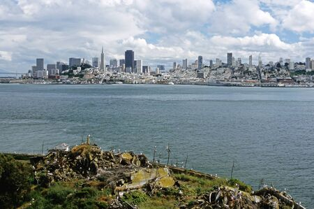 coit: This image was shot on Alcatraz Island, and shows the San Francisco skyline.