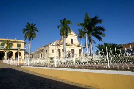 This image shows the church in the main plaza in Trinidad, Cuba photo
