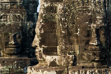 bayon: This image shows Face towers, Bayon Temple, Angkor Wat Stock Photo