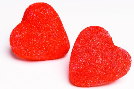 candy hearts: This image shows Two Valentines Hearts (candy - marshmallow)