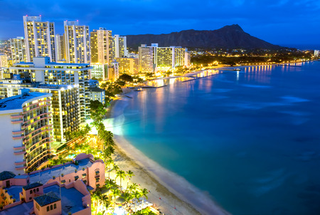 hawaii: This image shows Waikiki  beach in Honolulu, Hawaii.