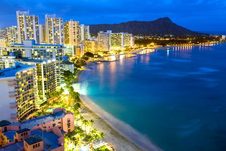 honolulu: This image shows Waikiki  beach in Honolulu, Hawaii.