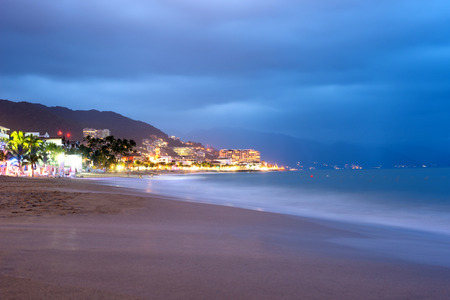 jalisco: This image shows Puerto Vallarta by night, Jalisco, Mexico
