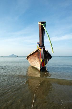 nang: This image shows a longboat in Ao Nang, Thailand Stock Photo