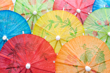 This image shows Paper Drink Umbrellas photo
