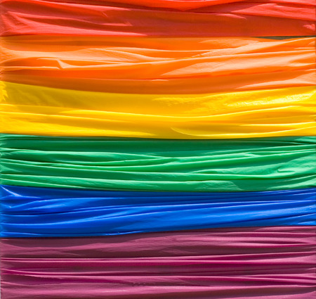 This image shows a Gay Pride Flag Stock Photo