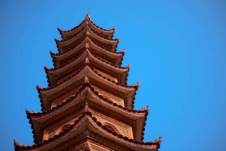 Pagoda of Tran Quoc temple in Hanoi, Vietnam Stock Photo