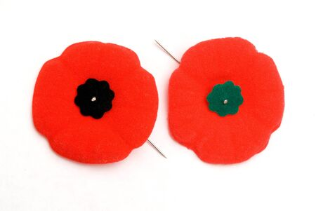 memento: Remembrance Day Poppies - Old (green) and New (Black)