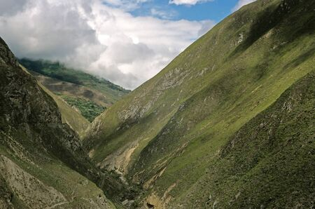 diablo: This image shows the La Nariz Del Diablo Landscape - Ecuador Stock Photo