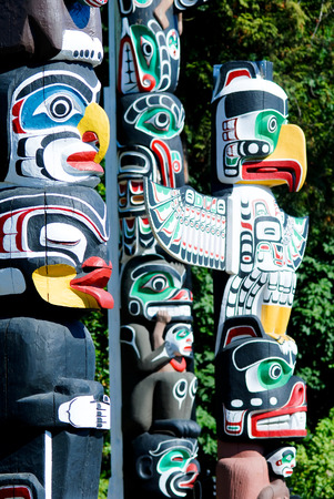 stanley: This image shows the Stanley Park, Totem Poles - Vancouver, Canada