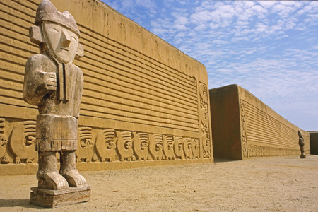 inca ruins: This image was shot near Trujillo, Peru at the Inca ruins of Chan Chan.