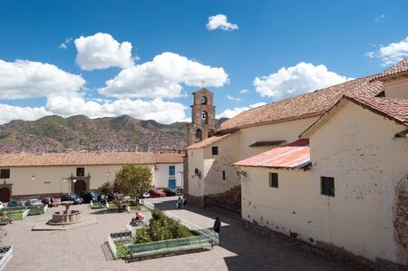 inca architecture: THis image shows the streets of Cusco, Peru