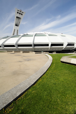 olympic stadium: This image shows Montreal's Olympic Stadium