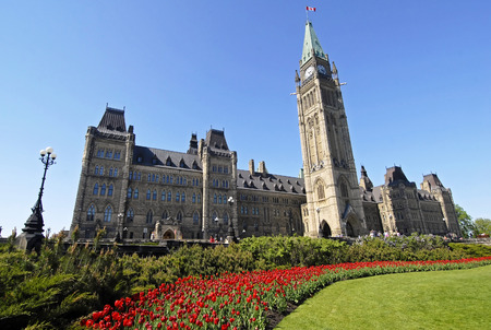 Spring in Canada% u2019s Parlement Stockfoto - 40131348