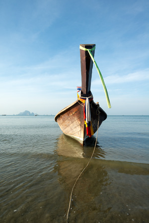 ao: This image shows a longboat in Ao Nang, Thailand Stock Photo